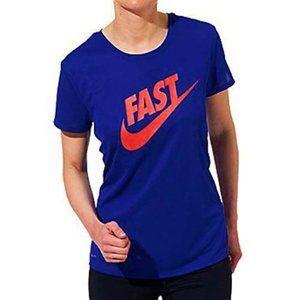 NIKE Running Challenger Big Logo T-Shirt FAST Sz S